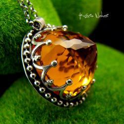 Nehesi,naszyjnik,srebrny,srebra,cytrynem - Naszyjniki - Biżuteria