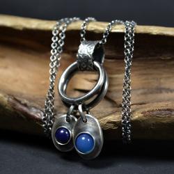 długi naszyjnik z kamieniami,retro biżuteria - Naszyjniki - Biżuteria
