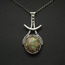 opal,wisior,biżuteria artystyczna,fiann - Wisiory - Biżuteria
