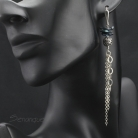 Kolczyki keishi,łańcuszki,wiszące kolczyki,długie