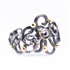 diamentowy szkic... pierścionek ze złotem