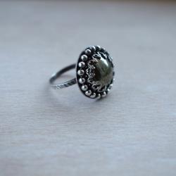 pierścionek,piryt,retro,srebrny - Pierścionki - Biżuteria