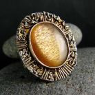 Pierścionki srebro,kamień księżycowy,pierścień
