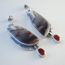 oryginalne,autorskie,nitza,agat - Kolczyki - Biżuteria