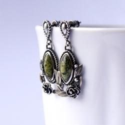 roślinne,eleganckie,klasyczne,wiktoriańskie - Kolczyki - Biżuteria