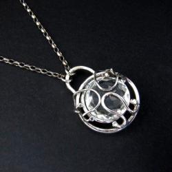 kwarc górski,kwarc krystaliczny,naszyjnik - Naszyjniki - Biżuteria