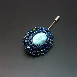 aillilstudio,szpilka,elegancka,haft koralikowy - Broszki - Biżuteria