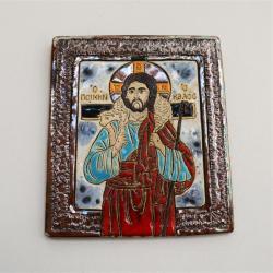 Beata Kmieć,ikona,obraz ceramika,Chrystus - Obrazy - Wyposażenie wnętrz