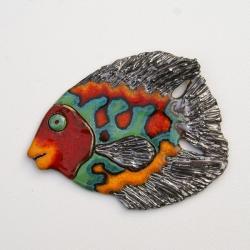 ryba,ceramika,obrazek,Kmieć,na ścianę - Ceramika i szkło - Wyposażenie wnętrz