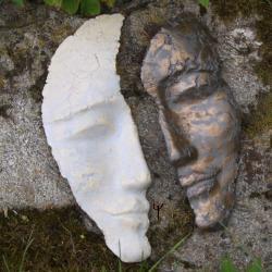 maska,ceramika,unikat.rękodzieło - Ceramika i szkło - Wyposażenie wnętrz