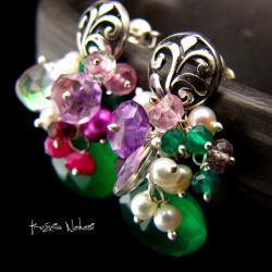 Nehesi,Kolczyki,ze Srebra,wkrętki,onyks - Kolczyki - Biżuteria