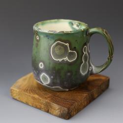 zielony kubek,ceramika krystaliczna - Ceramika i szkło - Wyposażenie wnętrz
