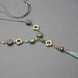 delikatny,chwost,boho - Naszyjniki - Biżuteria