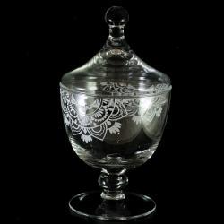 cukiernica,piaskowana,grawer na szkle - Ceramika i szkło - Wyposażenie wnętrz