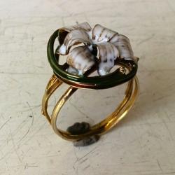 srebro,pierścionek,emalia,oksydowany - Pierścionki - Biżuteria