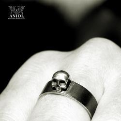 męski pierścień czaszka,skull,modny - Dla mężczyzn - Biżuteria