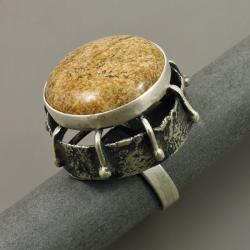 pierścień z jaspisem - Pierścionki - Biżuteria