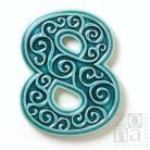 Ceramika i szkło numer domu,numer mieszkania,cyfra,dekoracja