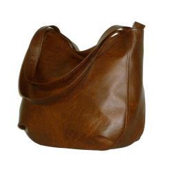 brązowa torba hobo,brązowy worek hobo,hobobag - Na ramię - Torebki