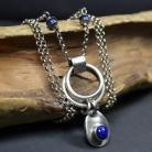 Naszyjniki długi naszyjnik,naszyjnik z lapis lazuli