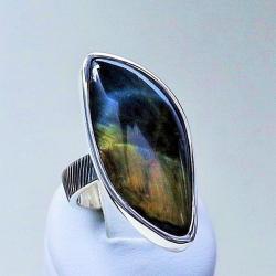 pierścionki srebrne,sokole oko,kwarc,biżuteria - Pierścionki - Biżuteria