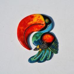 Beata Kmieć,tukan,ptak ceramiczny - Ceramika i szkło - Wyposażenie wnętrz