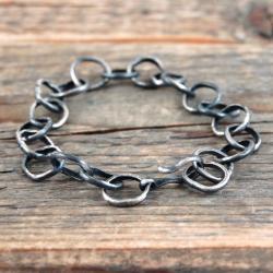 srebrny łańcuch - Bransoletki - Biżuteria