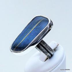 Kwarc,sokole oko,pierścionki,srebro,biżuteria - Pierścionki - Biżuteria
