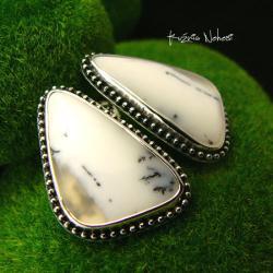 Nehesi,kolczyki,srebrny,srebrne,dendrytowy - Kolczyki - Biżuteria