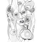 Ilustracje, rysunki, fotografia akwarela,obraz,oryginał,portret,wnętrze,kobieta