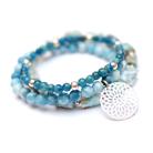 Bransoletki niebieska,bransoletka,na gumce,charms,delikatna