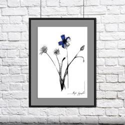 grafika,rysunek,na ścianę,wnętrze,dom,kwiat - Ilustracje, rysunki, fotografia - Wyposażenie wnętrz