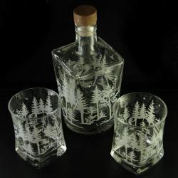 grawerowany,las,whisky - Ceramika i szkło - Wyposażenie wnętrz