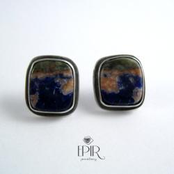 Kolczyki srebrne z sodalitami - Kolczyki - Biżuteria