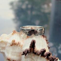 surowa,rustykalna,obrączka - Pierścionki - Biżuteria