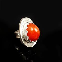 pierścionek z karneolem - Pierścionki - Biżuteria
