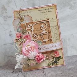 ślub,latarnia,róże - Kartki okolicznościowe - Akcesoria