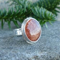 złoto,brokat,mieniący się kamień - Pierścionki - Biżuteria
