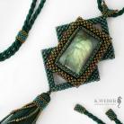 Wisiory Efektowny elficki wisior w zielonych odcieniach