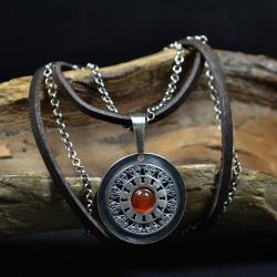 naszyjnik z karneolem,retro naszyjnik - Naszyjniki - Biżuteria