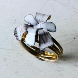 srebro,pierścionek,oksyda,emalia - Pierścionki - Biżuteria