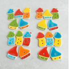 Magnesy na lodówkę domki,magnesy,wesołe,kolorowe