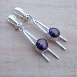 perły,surowe,długie,nowoczesne,proste, - Klipsy - Biżuteria