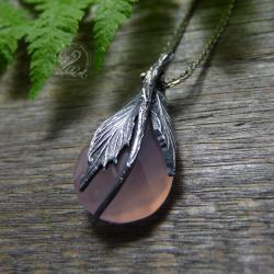 srebrny,oksydowany,romantyczny,natura,organiczny - Naszyjniki - Biżuteria