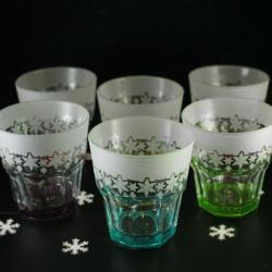 szklanki,piaskowane,zima,gwiazdki - Ceramika i szkło - Wyposażenie wnętrz