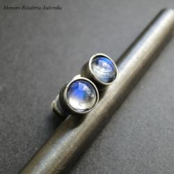 srebro,sztyfty,księżycowe,surowe - Kolczyki - Biżuteria