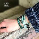 Bransoletki komplet skórzanych bransolet,biżuteria damska