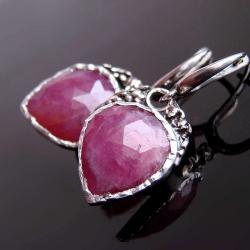 baśniowa,kolczyki,rubin,srebro - Kolczyki - Biżuteria