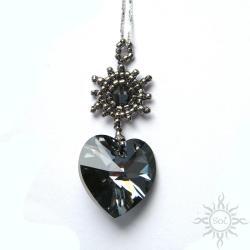 swarovski,srebrne,serce,walentynki,kryształowe - Wisiory - Biżuteria