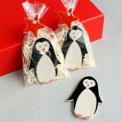 magnes,pingwin,święta,upominek - Ceramika i szkło - Wyposażenie wnętrz